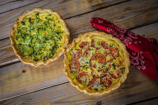 Hot out of the oven… tasty homemade quiche