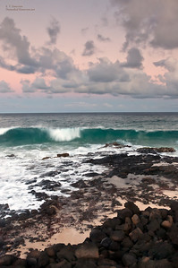East Kauai Beach at Sunset