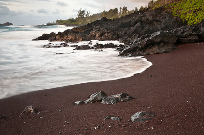 Red Sand Beach in Hana, Maui