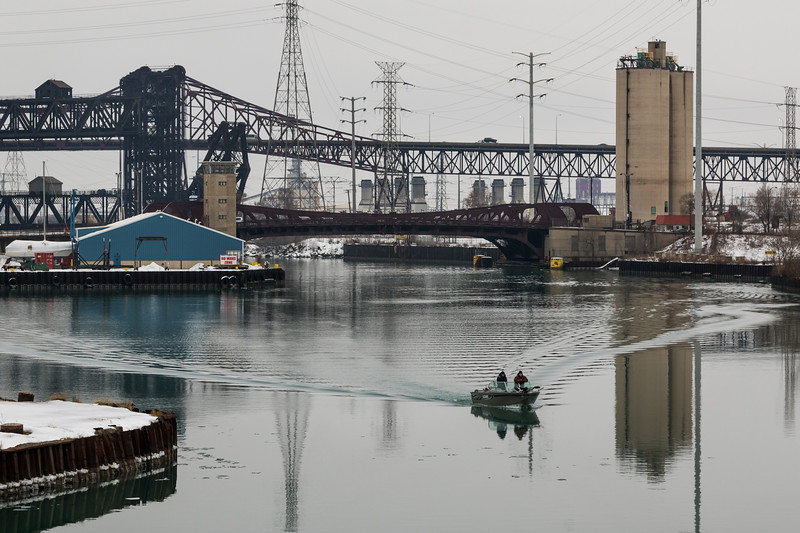 Calumet River at Ewing Ave  Bridge - 2016