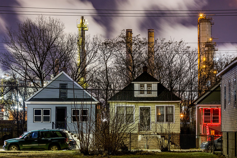 Whiting Refinery & Houses - January 2019