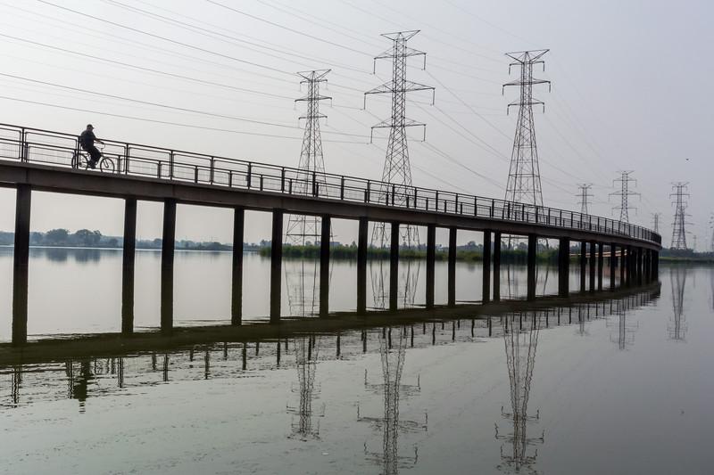 Wolf Lake Bike Bridge - 2015