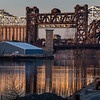 Calumet River at Ewing Ave  - April 2018