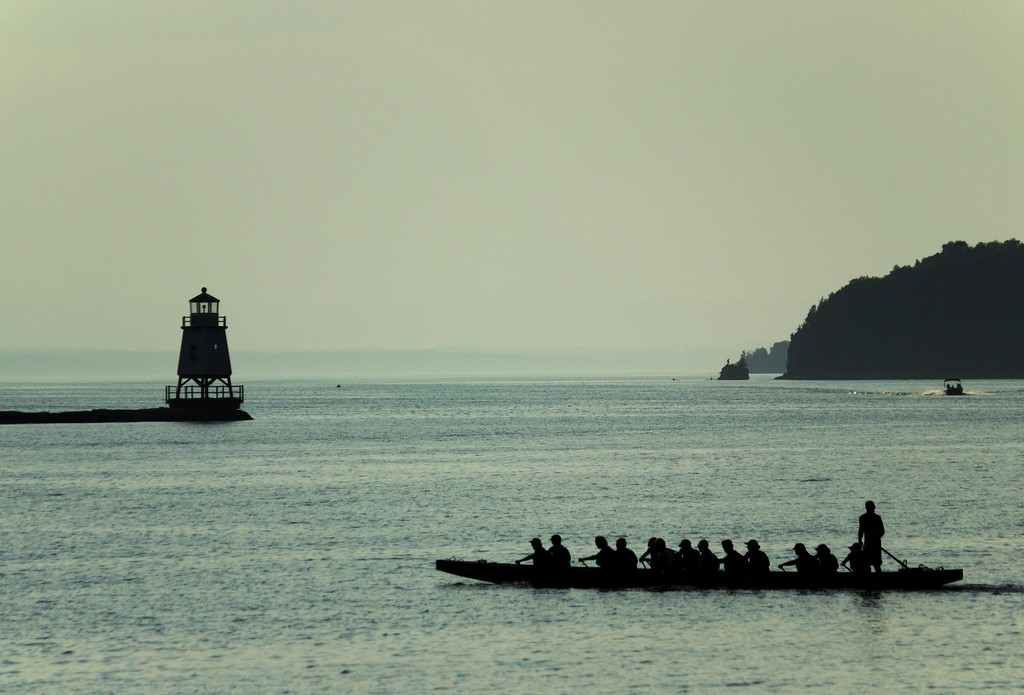 Dragon Boat practice, Burlington Waterfront
