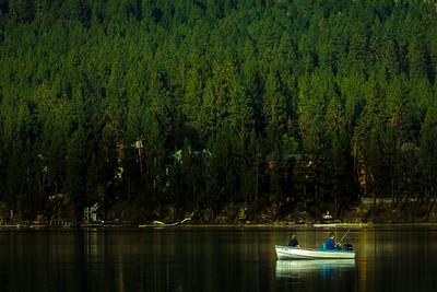 Fishing on Liberty Lake, Washington