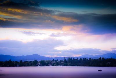 Boating on Liberty Lake, Washington