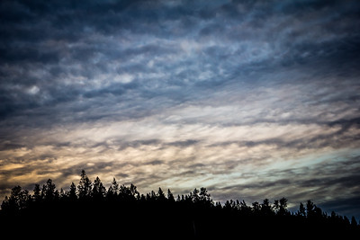 Sunset above Dreamwood Bay, Liberty Lake, Washington