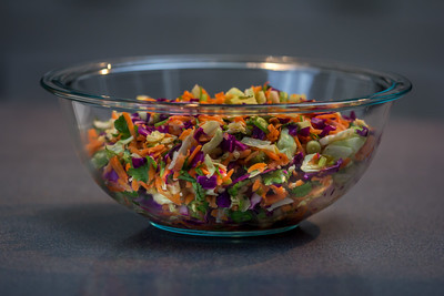 Cabbage, Purple Onions, Cilantro, Jalapeño, Carrots, Garlic with Cider Vinegar and Lime Juice