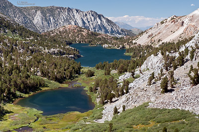 Lakes Between South Lake and Bishop Pass