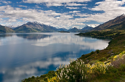 The Remarkables in NZ with Lake Wakatipu in foreground