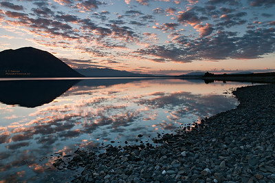 Ohao Lake (NZ) at Sunrise