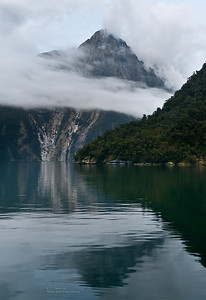 Cloudy Milford Sound