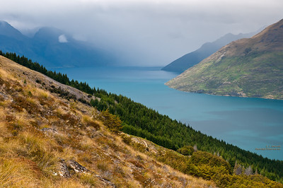 Rain Showers on Lake Wakatipu