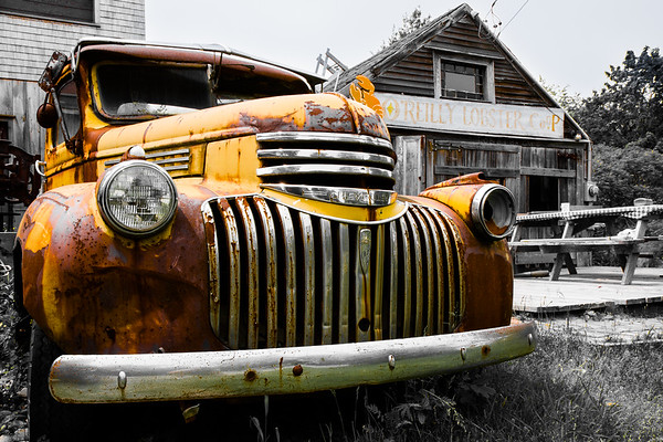 Old truck in Kennebunkport, ME