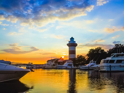Hilton Head Sunset Lighthouse in South Carolina