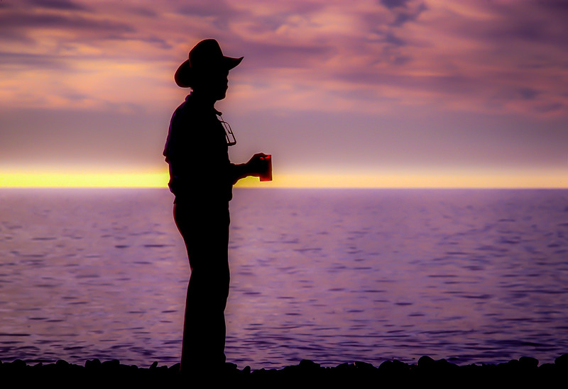 Sunrise Cowboy Coffee, Isla de Cedros, Baja California, Mexico