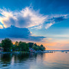 New Hampshire-Sunset-Long Lake