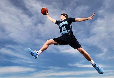 Grand Island Central Catholic's Turner Fahey is the 2011 All-Heartland Boys Basketball Honorary Captain.  (Independent/Barrett Stinson)