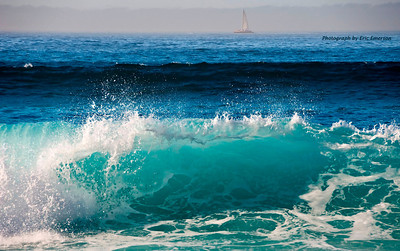 Wave and Sailboat at Cabo