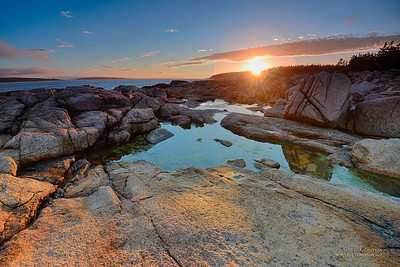 Sunset at Acadia NP in Maine