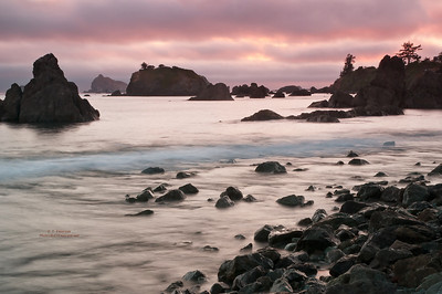 Sunset at Crescent City Beach