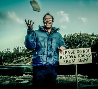 Troublemaker on Donner Summit, Sierra Nevada Mountains, California
