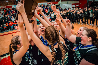 Holy Family Girls Basketball Section Champs - Halenbeck Hall