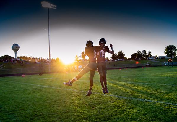 Logan Rasmussen (9) & Jacob Zay (13) - Holy Family Football