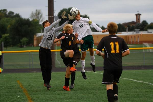 Holy Family Boys Varsity Soccer vs. Hutchinson, 9/26/19: Ben Creager '20 (10)