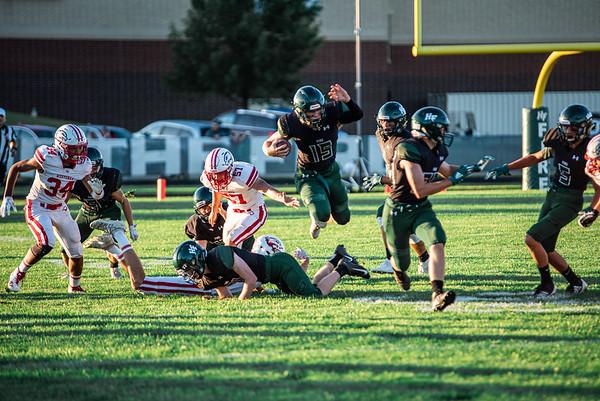 Holy Family Varsity Football vs. Mound Westonka, 8/29/19: Captain Nick Hendler '20 (15)