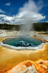 Steamy Pool in Upper Geyser Basin