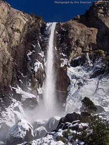 Bridalveil Falls in Winter
