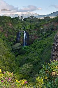 Hawaii, Kauai, Opaeka'a Falls