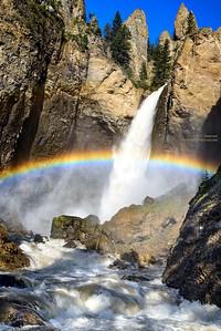 Tower Falls in Yellowstone