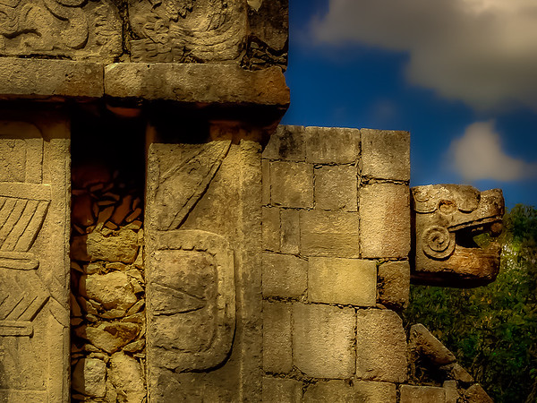 Temple of the Jaguars at Chichen Itza Mexico