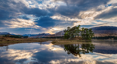 Last Light Loch Tulla No2