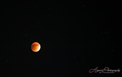 Full moon, lunar eclipse