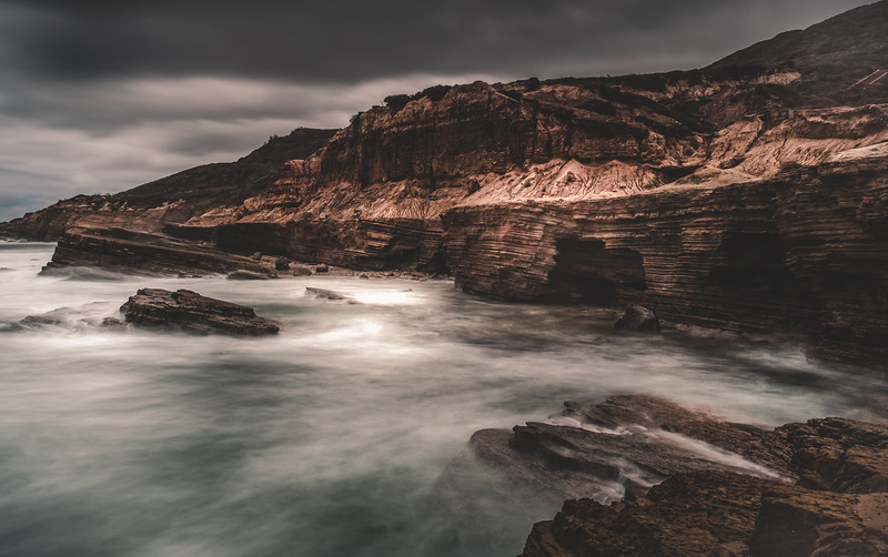 Sunset Cliffs Southern California Grunge