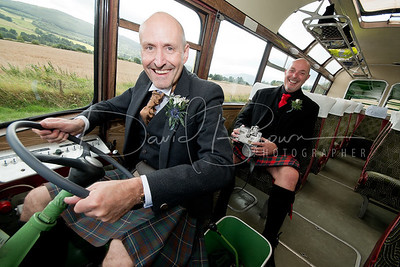 The Civil Ceremony of Iain and Barry at Menzies Castle, Aberfeldy, Perthshire, Scotland, UK