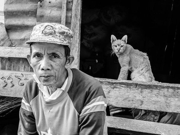 Man and Cat, Cambodia