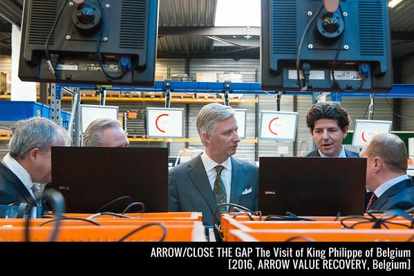 King Philippe of Belgium visiting Arrow Value Recovery / Close the Gap in Belgium [2016]