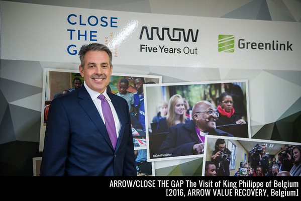 Portrait of Joe  Verrengia, Global CSR Leader during the visit of King Philippe of Belgium at Arrow Value Recovery / Close the Gap in Belgium [2016]