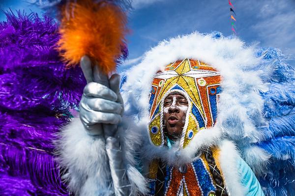 Creole Osceola Mardi Gras Indian - Spy Boy Nate