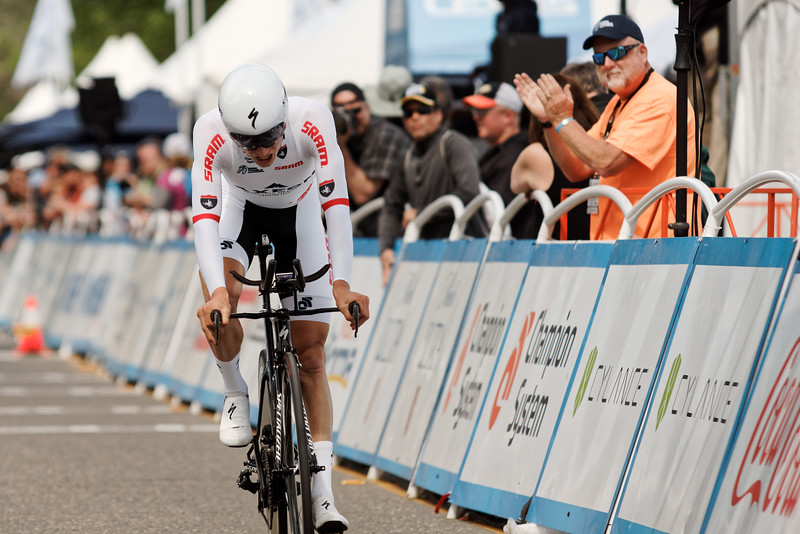 Neilson Powless takes Best Young Rider in the Tour of California Stage 6 TT in Folsom.