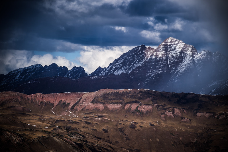 The South Face of the Maroon Bells emerges from a Fall storm.