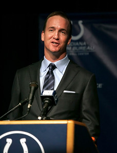 Peyton Manning  says he is not ready to retire. March 7, 2012. (Jeff Brown/Flyer Photo)