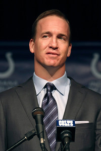 Peyton Manning says he will always be a Colt March 7, 2012. (Jeff Brown/Flyer Photo)