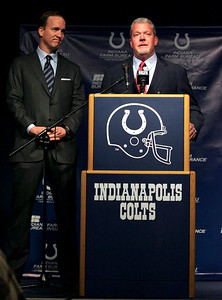 Colt Owner Jim Irsay announces that the Peyton Manning era has come to a close. March 7th, 2012.(Jeff Brown/Flyer Photo)