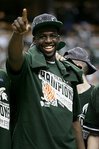 Michigan State's Draymond Green was awarded the Most Valuable Player award.
