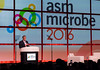 Bill Gates speaks to attendees during Opening Keynote Session